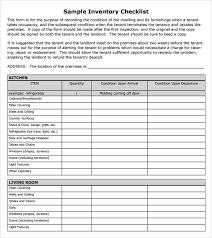 Rental Inventory Checklist Template Major Magdalene