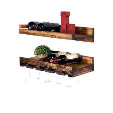 wine glass rack and shelf floating shelf wine rack wine rack loon peak rustic wall mounted