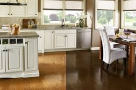 Natural wood floors in the kitchen can last a while with the right treatment [from: Dark Floors Vs Light Floors Pros And Cons The Flooring Girl