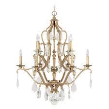 capital lighting capital lighting blakely antique gold crystal chandelier 4180ag cr