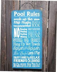 Swimming Pool Decor Signs Personalized Pool Rules Sign Pool Decor Pool Rules Sign Pool 15