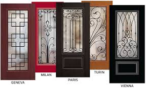 wrought iron designs are sealed between an interior textured glass and an exterior clear glass to ensure zero corrosion tempered glass provides strength
