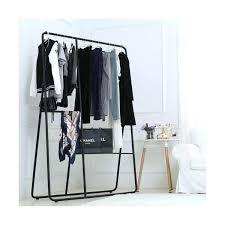 closet clothes hanger bar height modern metal clothing rack organizer garment closet clothes hanger bar height