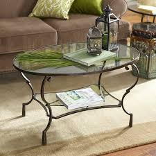 oval glass coffee table