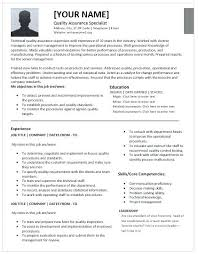 Quality Assurance Resume Objective Best Of Quality Resume Samples Interesting Resume Samples For Quality