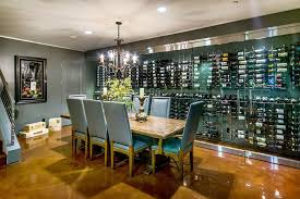 san francisco wine cellar decor with contemporary aerators and stoppers iron chandelier cable stair railing