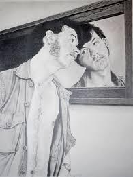 man looking in mirror painting. gallery of man looking in mirror drawing painting a