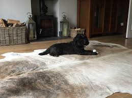how do you clean cowhide rugs
