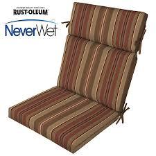 allen roth stripe chili stripe chili stripe high back patio chair cushion for high