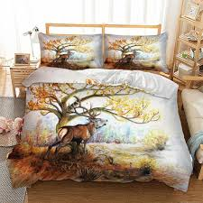 cool animal bedding set twin full queen king super king double size duvet cover quilt cover pillow cases nature flannel duvet quilted duvet cover from