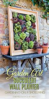turn succulents into living wall art with this picture frame projects sempervivums also known