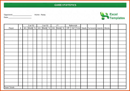 Basketball Stats Excel Template Basketball Stat Sheet Template Excel 3 Basketball Stat Sheets Free