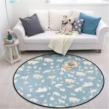Gwell Süß Tier Motiv Fußmatten Teppich Kinderzimmer Weich Plüsch