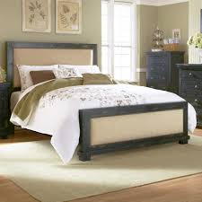 Progressive Bedroom Furniture Progressive Furniture Willow King Upholstered Bed With Distressed