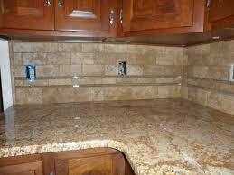 Travertine Kitchen Backsplash Tile Backsplash And Glass And Travertine Tile Installation Uba