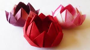 Japanese Traditional Origami Water Lily Lotus Flower Youtube