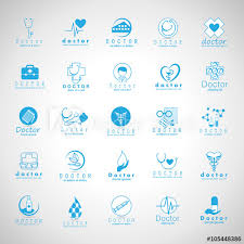 Doctor Applications Doctor And Medical Icons Set Isolated On Mosaic Background Vector