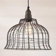 primitive lighting fixtures. INDUSTRIAL WIRE CAGE PENDANT LAMP In Smokey Black Finish Primitive Lighting Fixtures