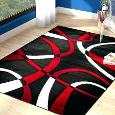 black and red area rugs white rug home dark contemporary gray