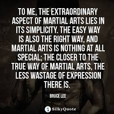 Martial Arts Quotes Awesome Bruce Lee Quotes To Me The Extraordinary Aspect Of Martial Arts