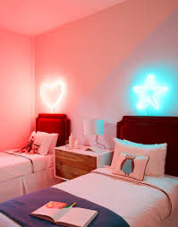 neon lighting for home. Headboard Neon Lights In Childrens Room Lighting For Home