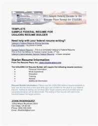 Usajobs Resume Builder Sample Luxury Federal Resume Sample Free