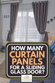 curtain panels for a sliding glass door