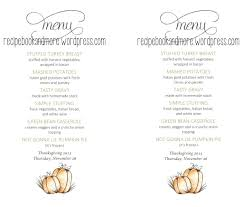 Thanksgiving Menu Planner Template Boski Mattaustinimages Co