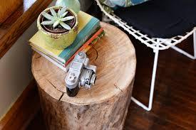 tree stump side table diy view in gallery