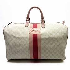 brandvalue gucci gucci handbag boston bag gg white x pink x red leather lady s h17537 rakuten global market