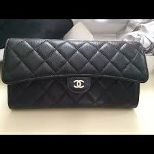 CHANEL - SOLD Chanel black quilted Travel Wallet from Mrscamilla's ... & SOLD Chanel black quilted Travel Wallet Adamdwight.com