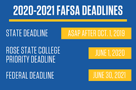 Fafsa Chart 2019 The Rose State Guide To The 2020 2021 Fafsa