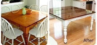 Kitchen Table Makeover Oak Kitchen Table Makeover Best Kitchen Ideas 2017