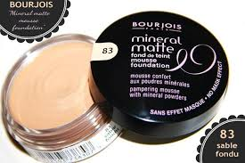 Bourjois Mineral Matte Mousse Foundation In 83 Sable Fondu