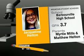 Mountain Student Achiever Jacqueline Helton
