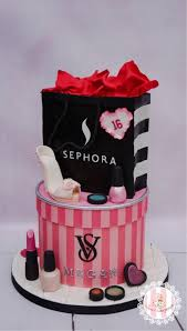 makeup and more sweet 16 birthday cake