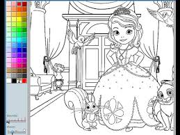 Small Picture Sofia The First Coloring Pages For Kids Sofia The First Coloring