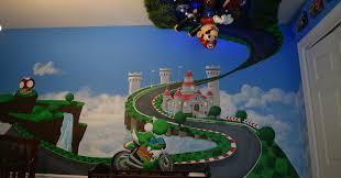 Super Mario Bedroom Dad Creates Epic Baby Nursery Of Every Mario Kart Fans Dreams