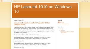 Windows 10에서는 hp laserjet 1010과 같이 pcl5를 지원하는 프린터를 설치할 수 없다. Hplaserjet1010onwindows10 Blogspot In Hp Laserjet 1010 On Windows 10 Hp Laser Jet 1010 On Windows 10 Blogspot