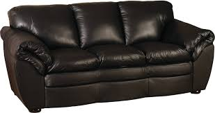 Black 100% Genuine Leather Sofa | The Brick regarding The Brick Leather Sofa  (Image