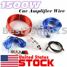 unbranded generic multi car audio amplifier kits usa 1500w 8 gauge car audio amplifier amp installation wiring wire kit rca fuse
