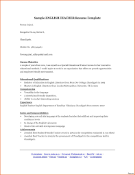 Sample Resume For English Teaching Job In India Best Inspiration