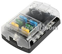 marine fuse boxes panel fuse holders midi fuse holder polycarbonate fuse holder box transparent snap cover silver plated phosphor bronze connections for 6 standards blade fuses total max amperage of the