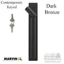 marvin contemporary keyed handle ultimate sliding french door dark bronze