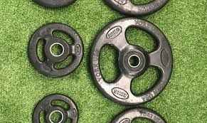 york weight plates. used full commercial gym set of york iso grip weight plates. 8 months old and very good condition. ***our price £2000*** 1.25kg x 4 2.5kg \u2026 plates