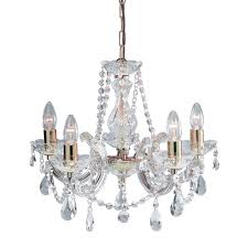 special offer searchlight 699 5 marie therese 5 light crystal chandelier in polished brass