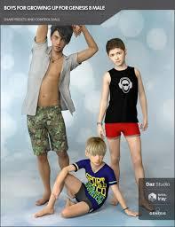 <b>Boys</b> for Growing Up for Genesis 8 <b>Male</b> | <b>3D</b> Models and <b>3D</b> ...