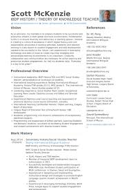 High School History And Middle School Social Studies Teacher Resume samples