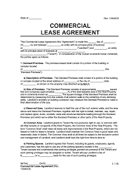 mercial lease agreement free
