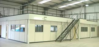 office mezzanine. Storage Mezzanine Above With Office Block Below Includes Full Interior  Fit-out